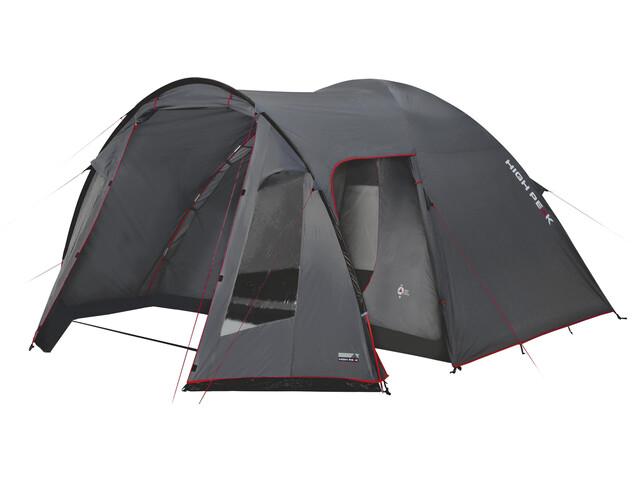 High Peak Tessin 4 Tent Dark Grey/Red